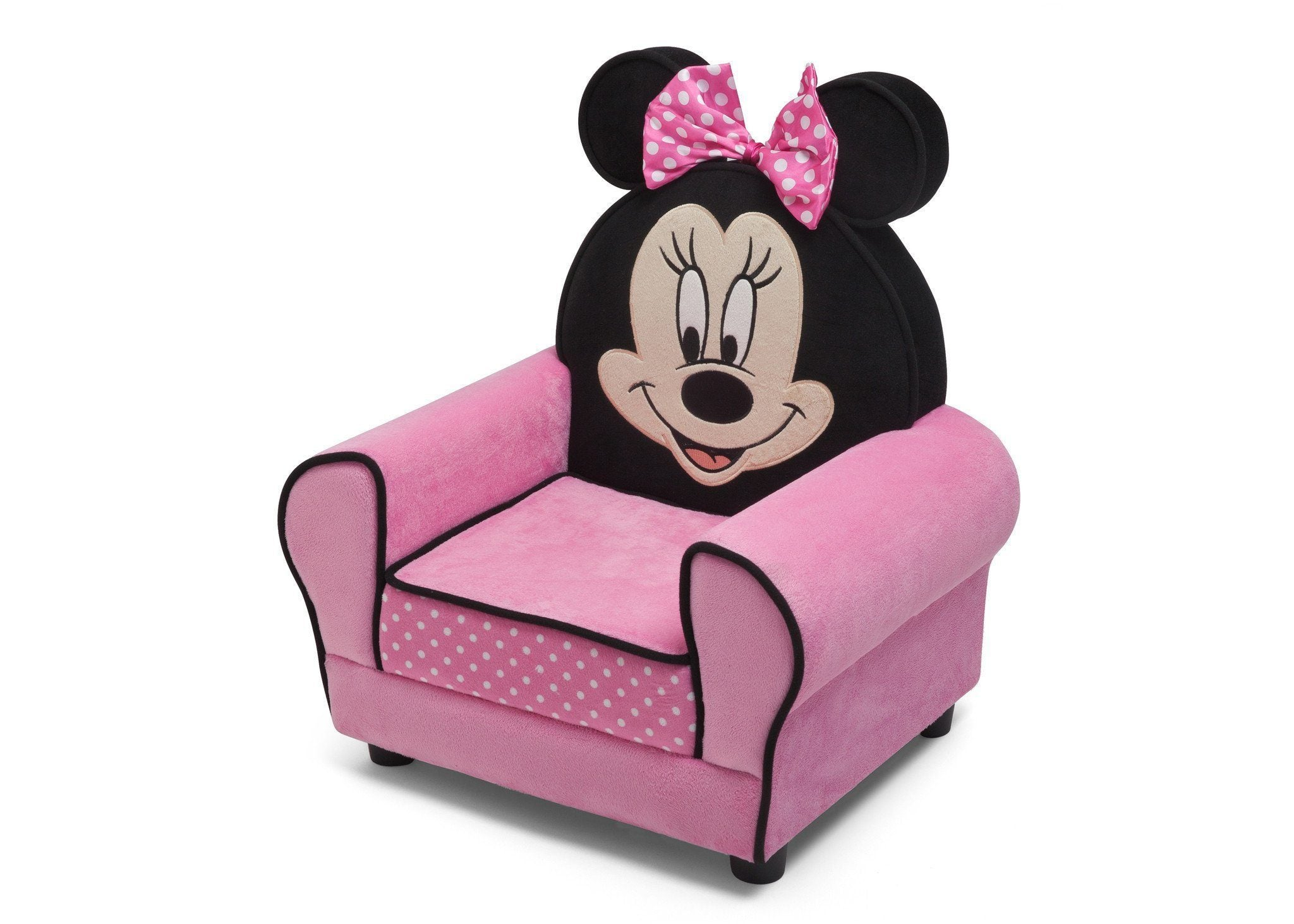 ... Delta Children Minnie Figural Upholstered Chair Left Side View A2a