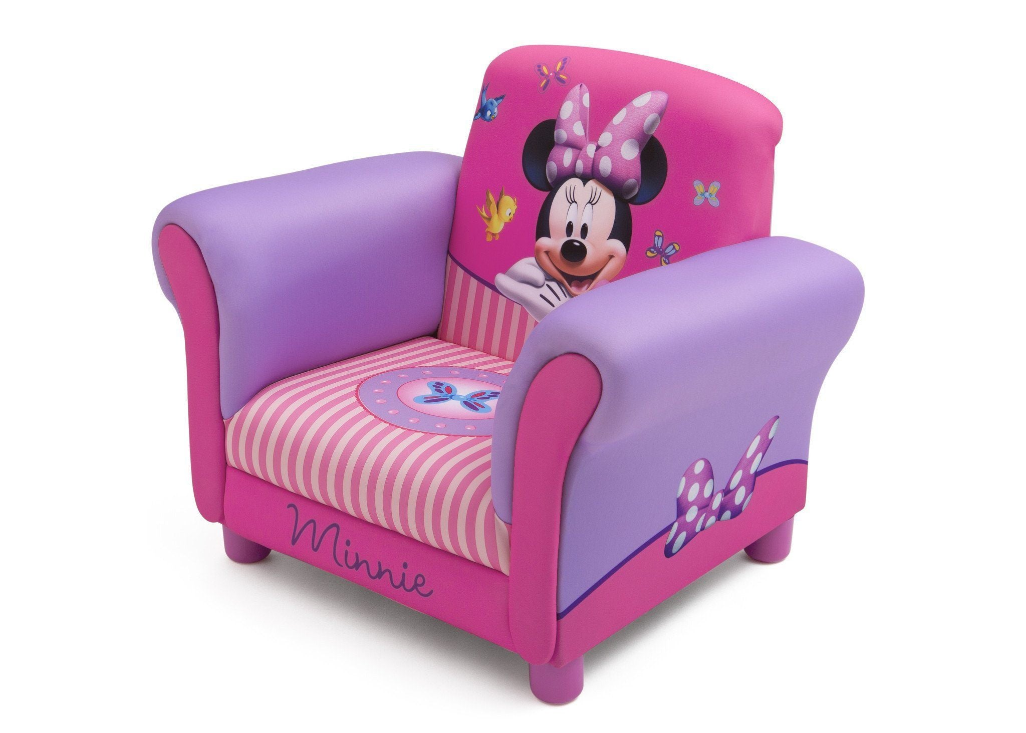 Beau ... Delta Children Minnie Mouse Upholstered Chair Left Side View A2a