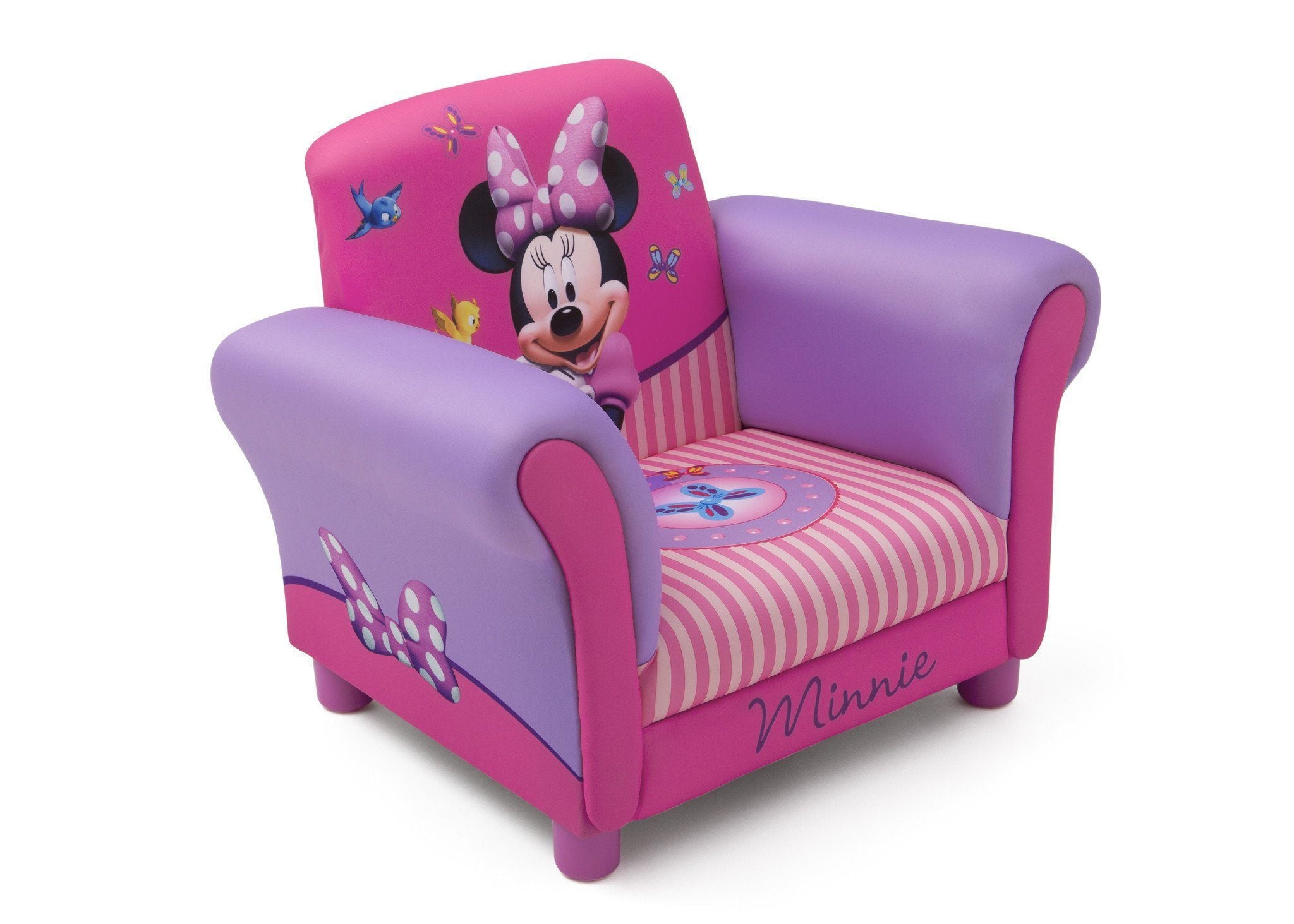 Delta Children Minnie Mouse Upholstered Chair Right Side View A1a ...