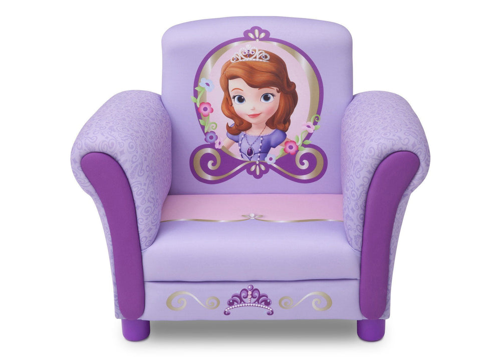 Delta Children Sofia the First Upholstered Chair Front View