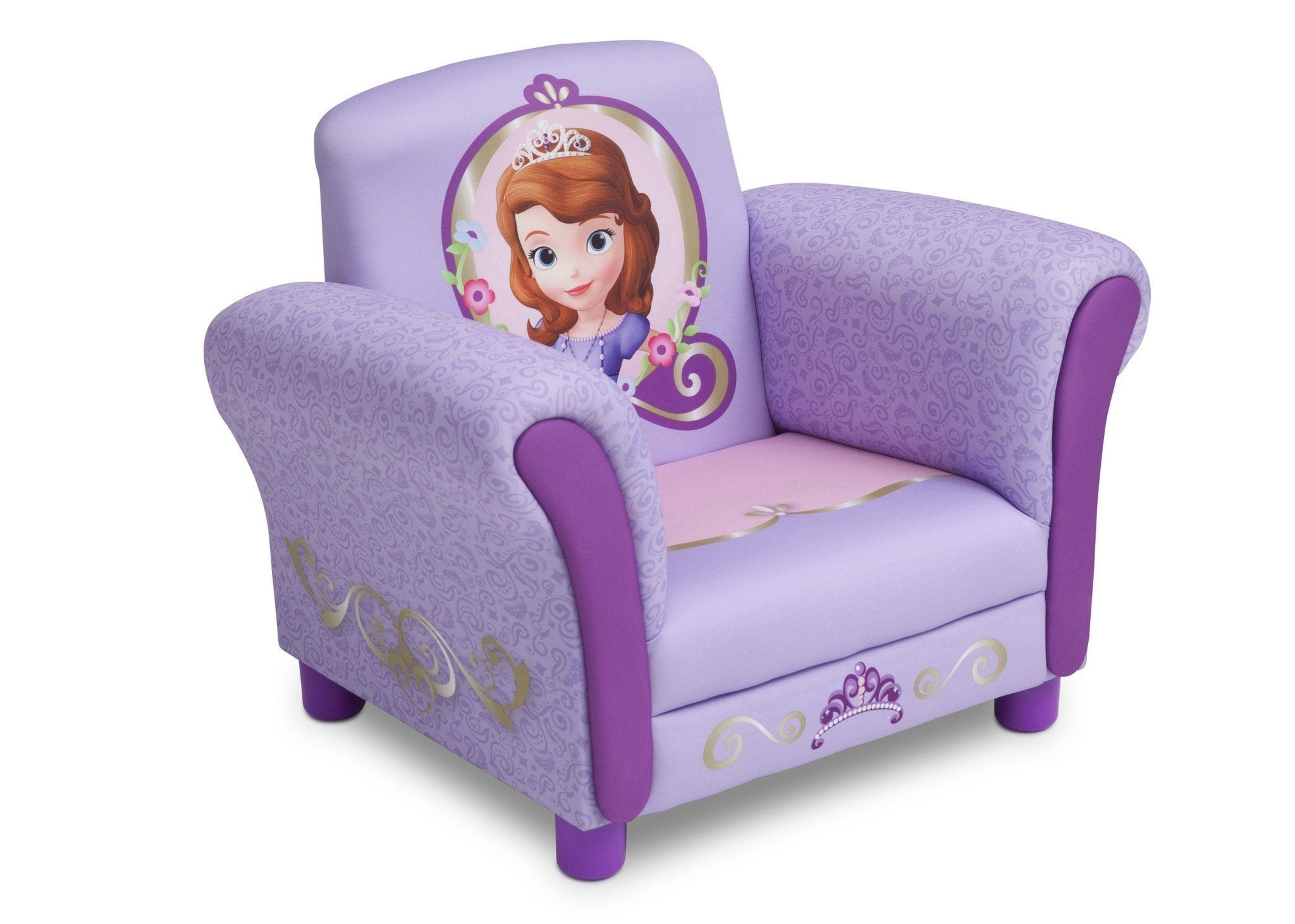 Charmant Delta Children Sofia The First Upholstered Chair Right Side View A1a ...