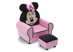 Delta Children Delta Children Minnie Figural Upholstered Chair with Ottoman, Right Side View a1a