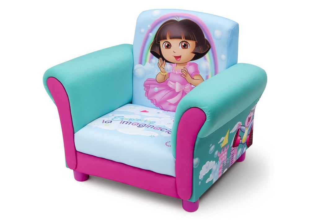 Delta Children Dora Upholstered Chair Left Side View a2a