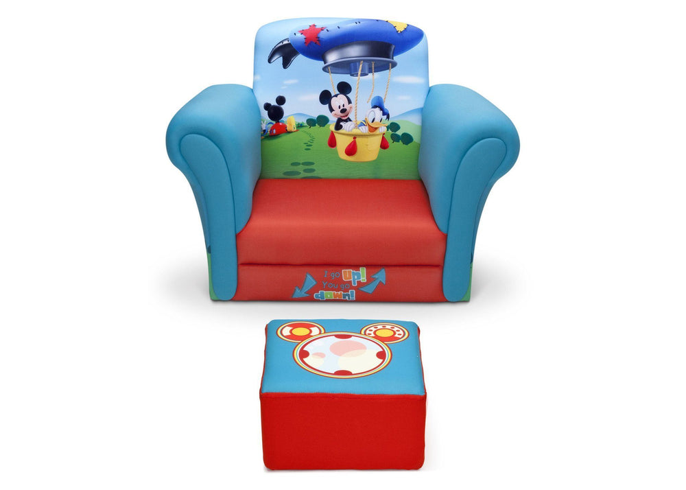 Delta Children Mickey Mouse Upholstered Chair with Ottoman, Front View