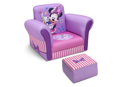 Minnie Mouse Upholstered Chair with Ottoman