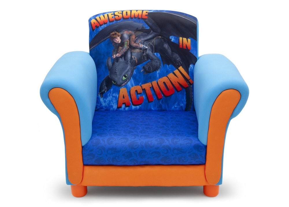 Delta Children How to Train Your Dragon Upholstered Chair Front View
