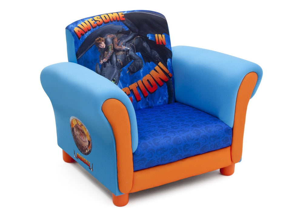 Delta Children How to Train Your Dragon Upholstered Chair Right Side View a1a