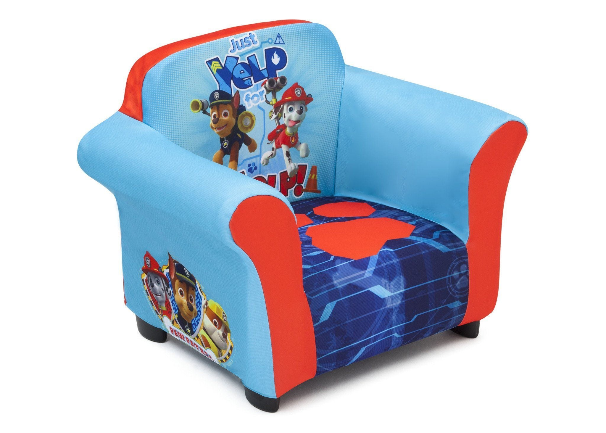 Nick Jr Paw Patrol Upholstered Chair With Sculpted