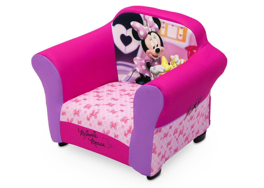 Delta Children Minnie Mouse Plastic Frame Upholstered Chair Style-1, Left View a2a