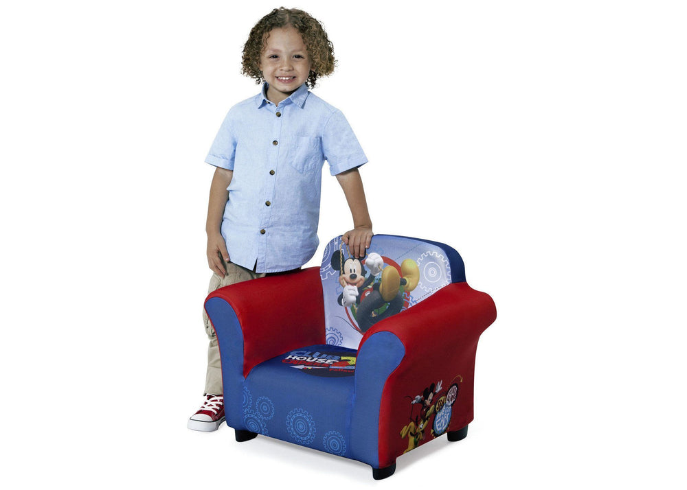Delta Children Mickey Mouse Upholstered Chair, with a Model a3a