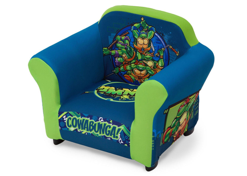 Delta Children Nickelodeon Teenage Mutant Ninja Turtles Upholstered Chair, Left View a2a