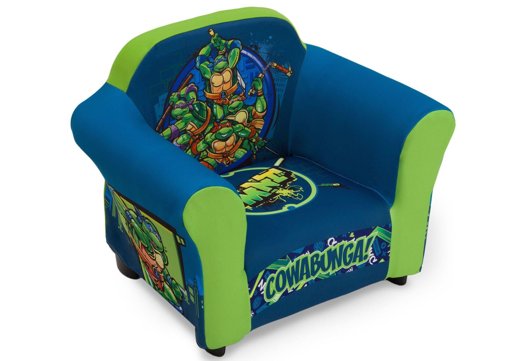 Delta Children Nickelodeon Teenage Mutant Ninja Turtles Upholstered Chair,  Right View A1a ...