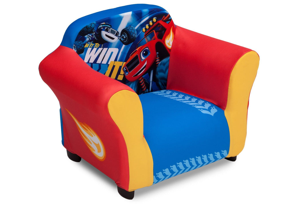 Delta Children Nick Jr. Blaze and the Monster Machines Plastic Frame Upholstered Chair, Right View a1a