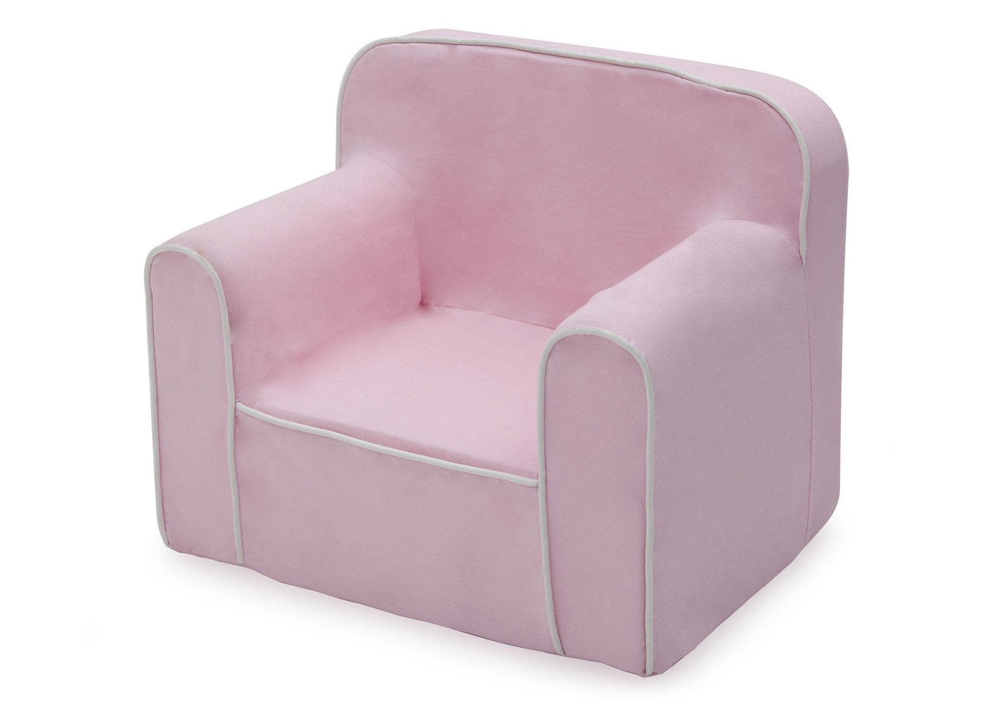 ... Delta Children Pink And White Foam Snuggle Chair Style 1, Left View A2a  ...