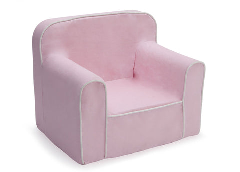 Superbe Foam Snuggle Chair, Pink And White