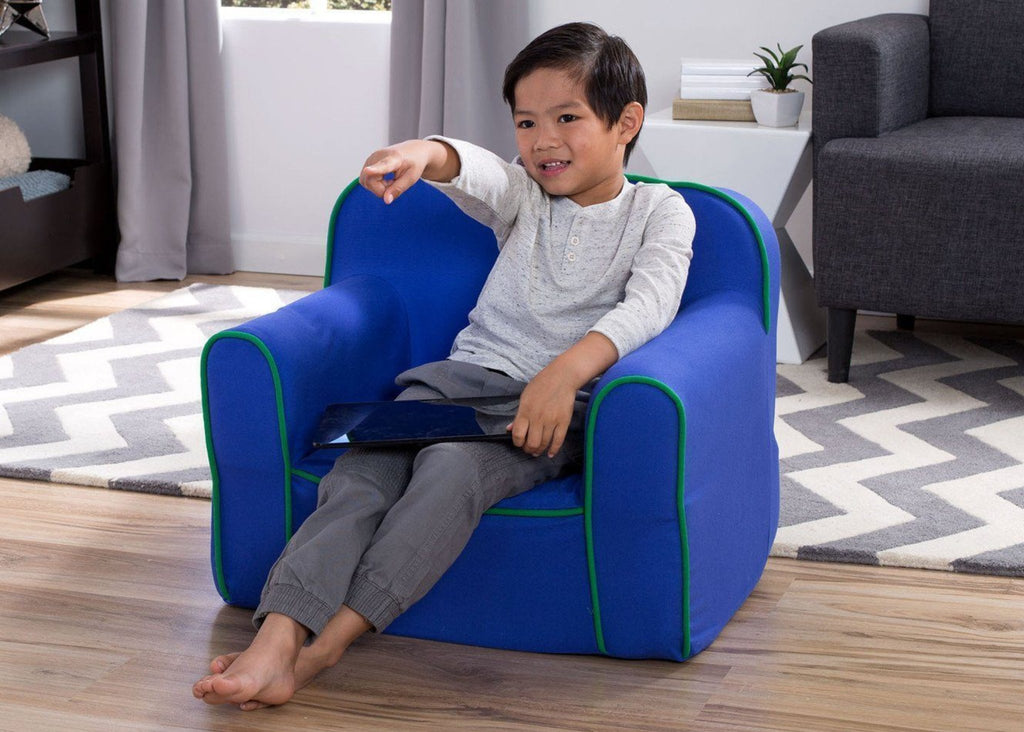 Foam Snuggle Chair, Blue and Green