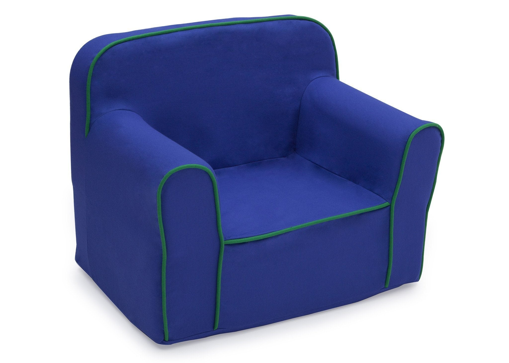 Delta Children Blue And Green Foam Snuggle Chair Style 1, Right View A1a ...