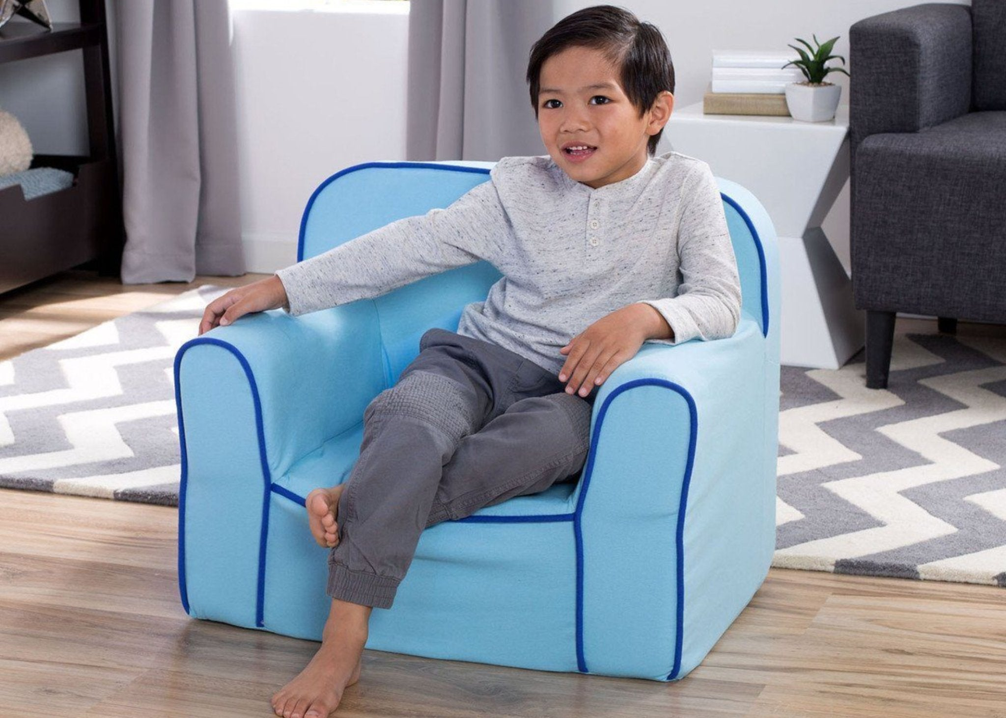 Foam Snuggle Chair (Blue) - bundle