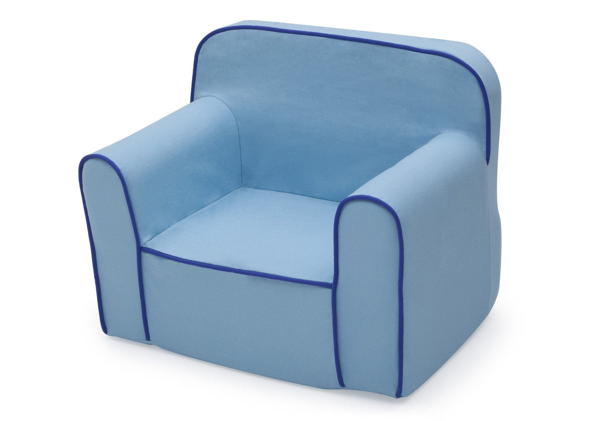 ... Delta Children Blue Foam Snuggle Chair Style 1, Left View A2a ...