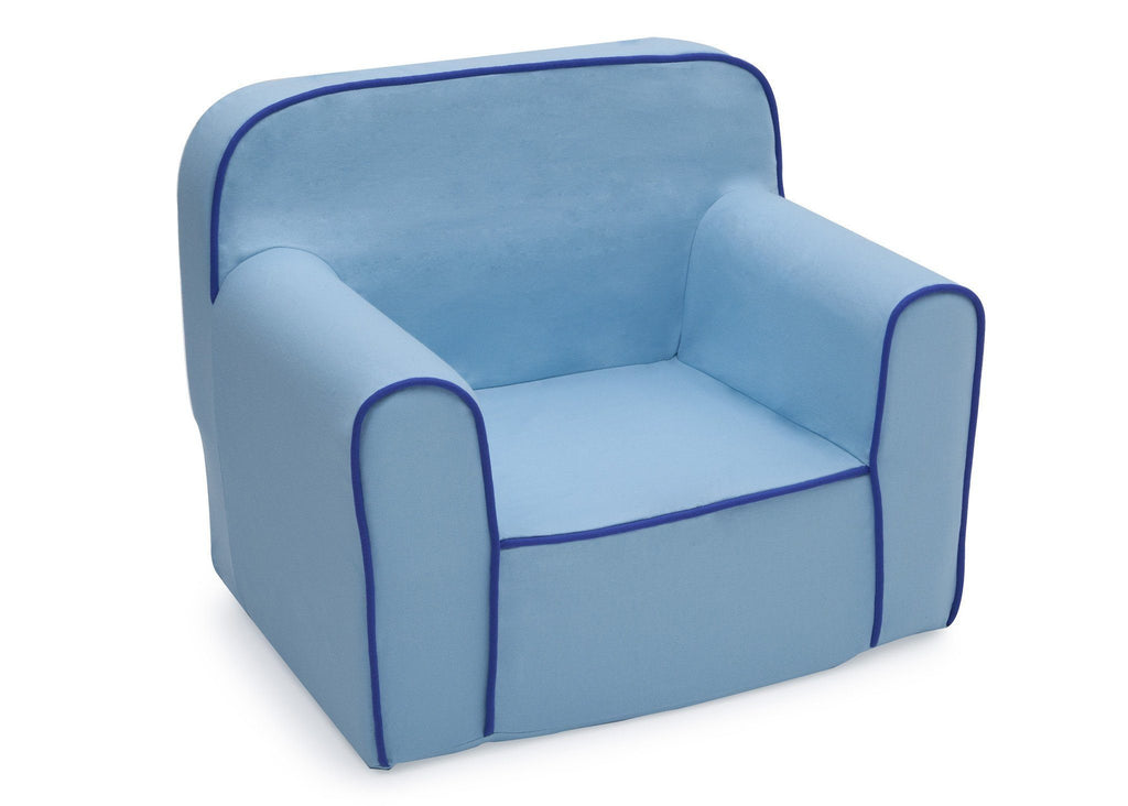 Delta Children Blue Foam Snuggle Chair Style 1, Right View A1a