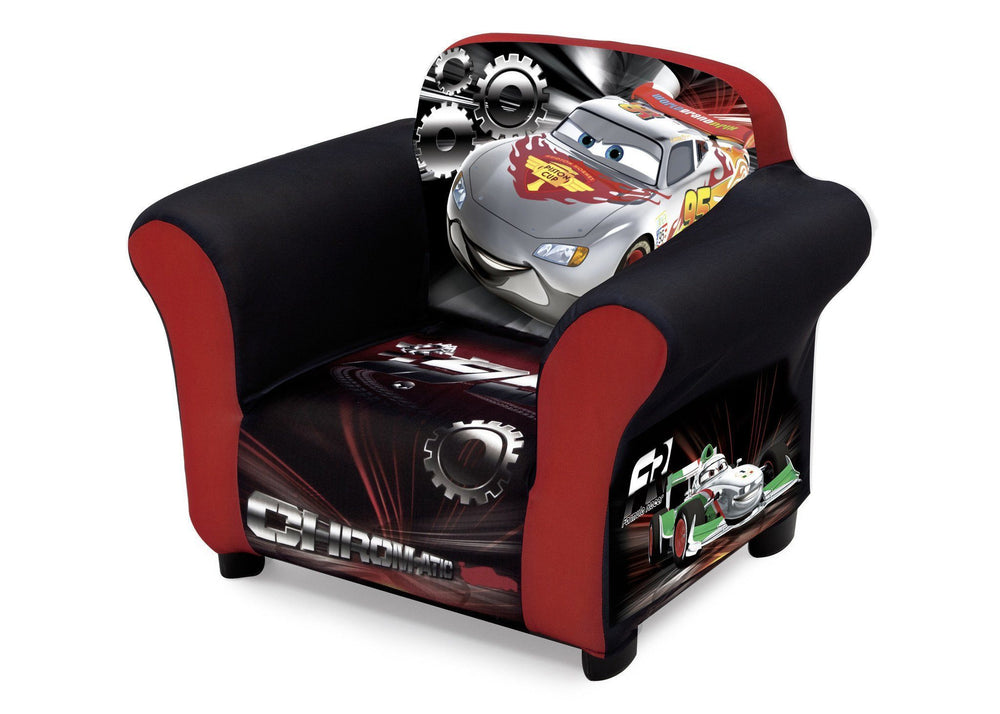 Delta Children Cars Upholstered Chair, Left View a2a