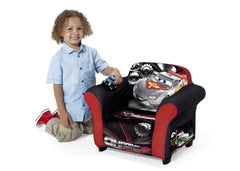 Delta Children Cars Upholstered Chair, Left View with Model a3a