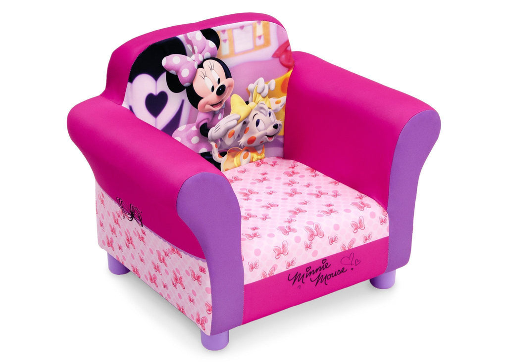 Bon Delta Children Minnie Mouse Upholstered Chair, Right View, A1a