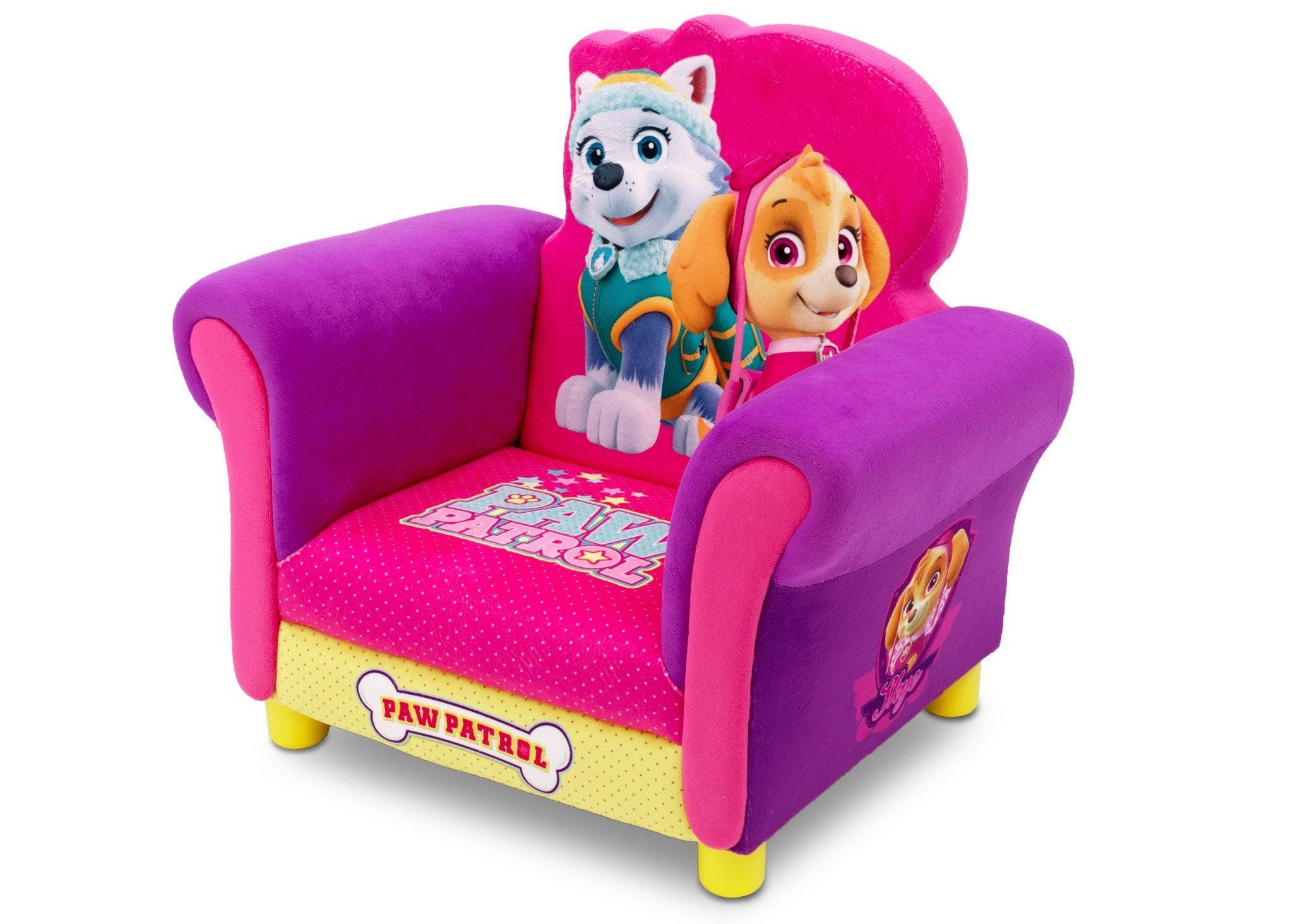 Paw Patrol Skye Amp Everest Deluxe Upholstered Chair