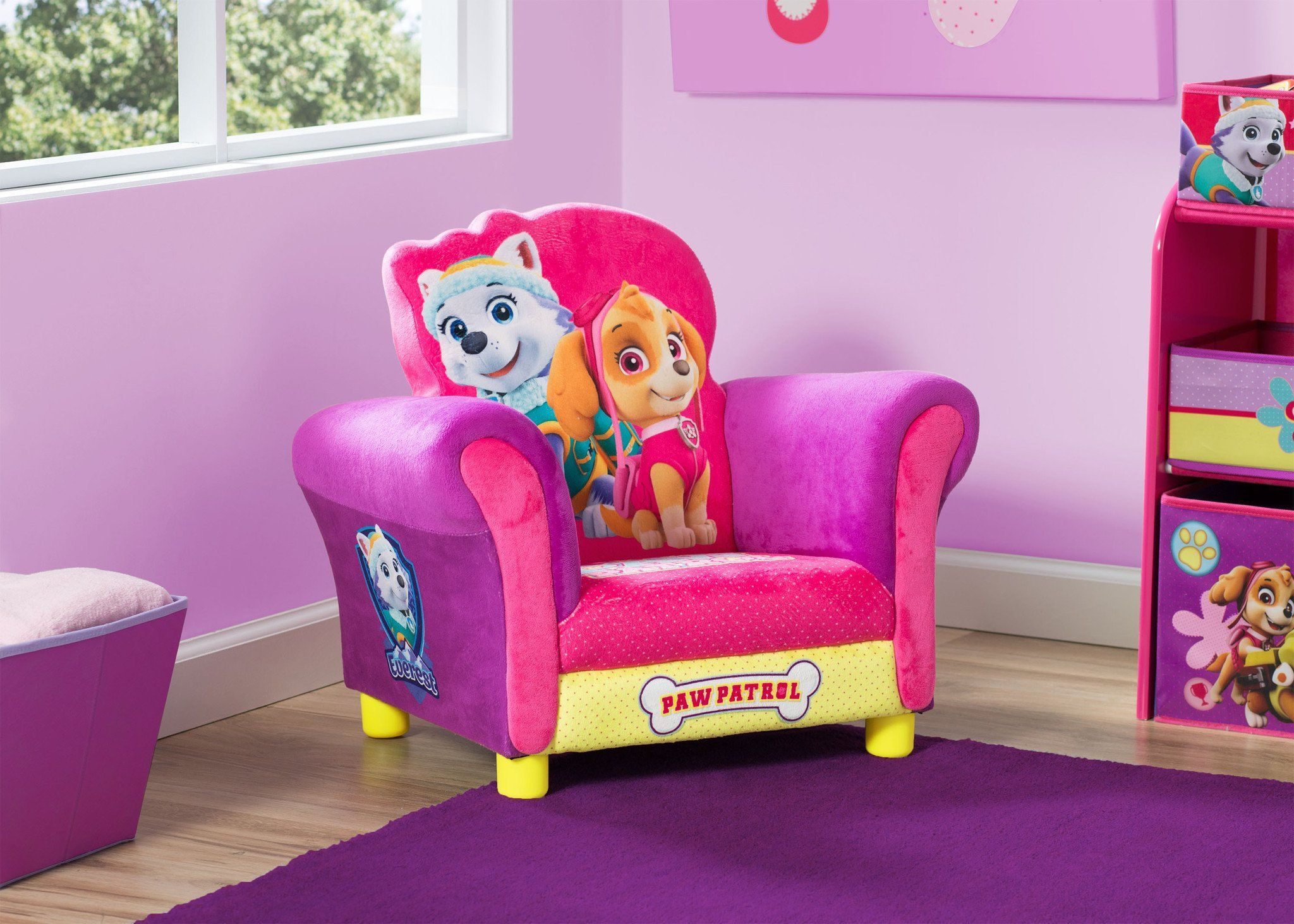 Delta Children PAW Patrol   Skye U0026 Everest   Deluxe Upholstered Chair  Hangtag A1a ...