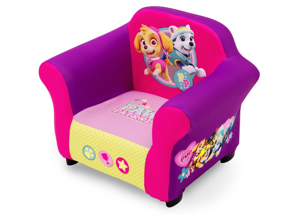 PAW Patrol, Skye & Everest Upholstered Chair, Left View a2a