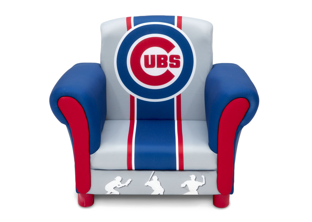 Delta Children Chicago Cubs Upholstered Chair, Front view a3a