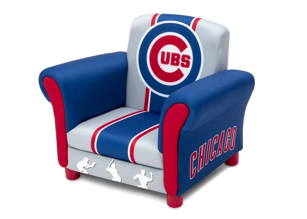 Delta Children Chicago Cubs Upholstered Chair, Left view a2a