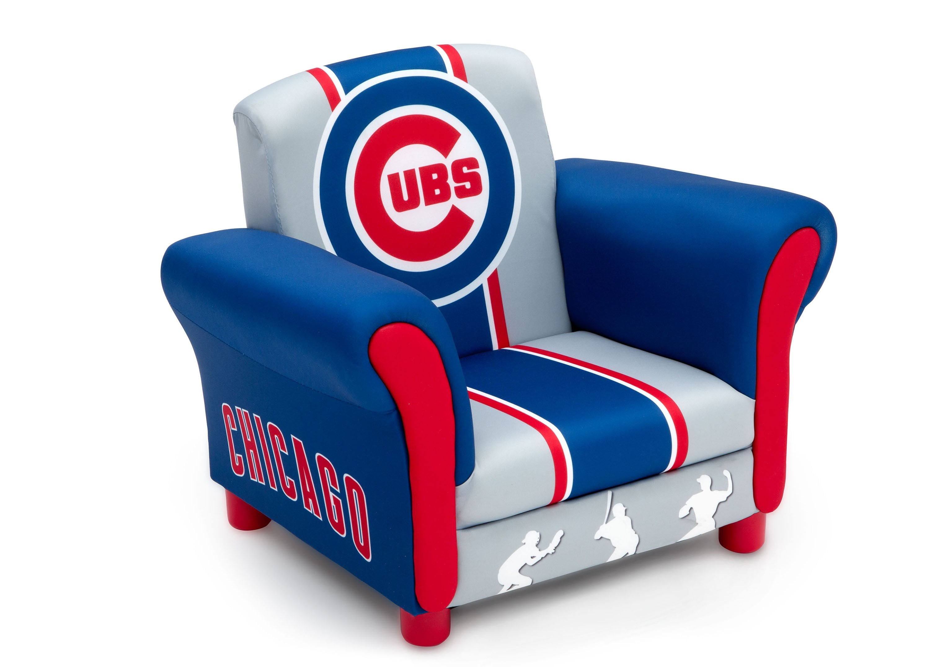 Delta Children Chicago Cubs Upholstered Chair, Right View A1a ...