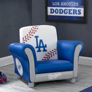 Delta Children LA Dodgers Upholstered Chair, Roomshot a0a