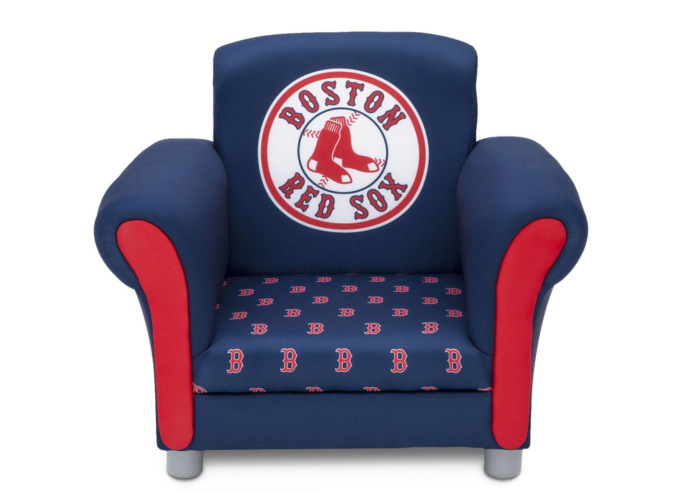 Delta Children Boston Red Sox Upholstered Chair, Front view a3a