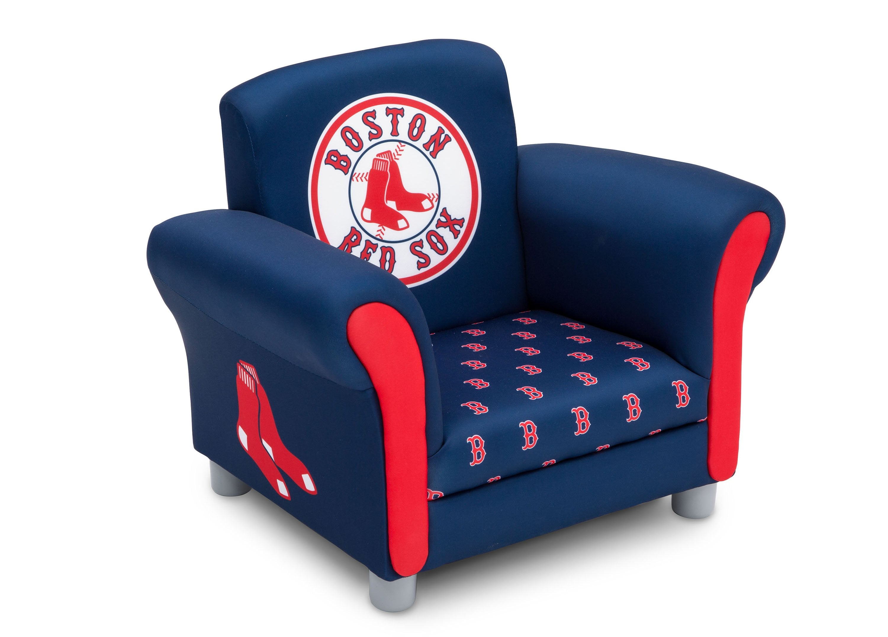 Delta Children Boston Red Sox Upholstered Chair, Right View A1a ...