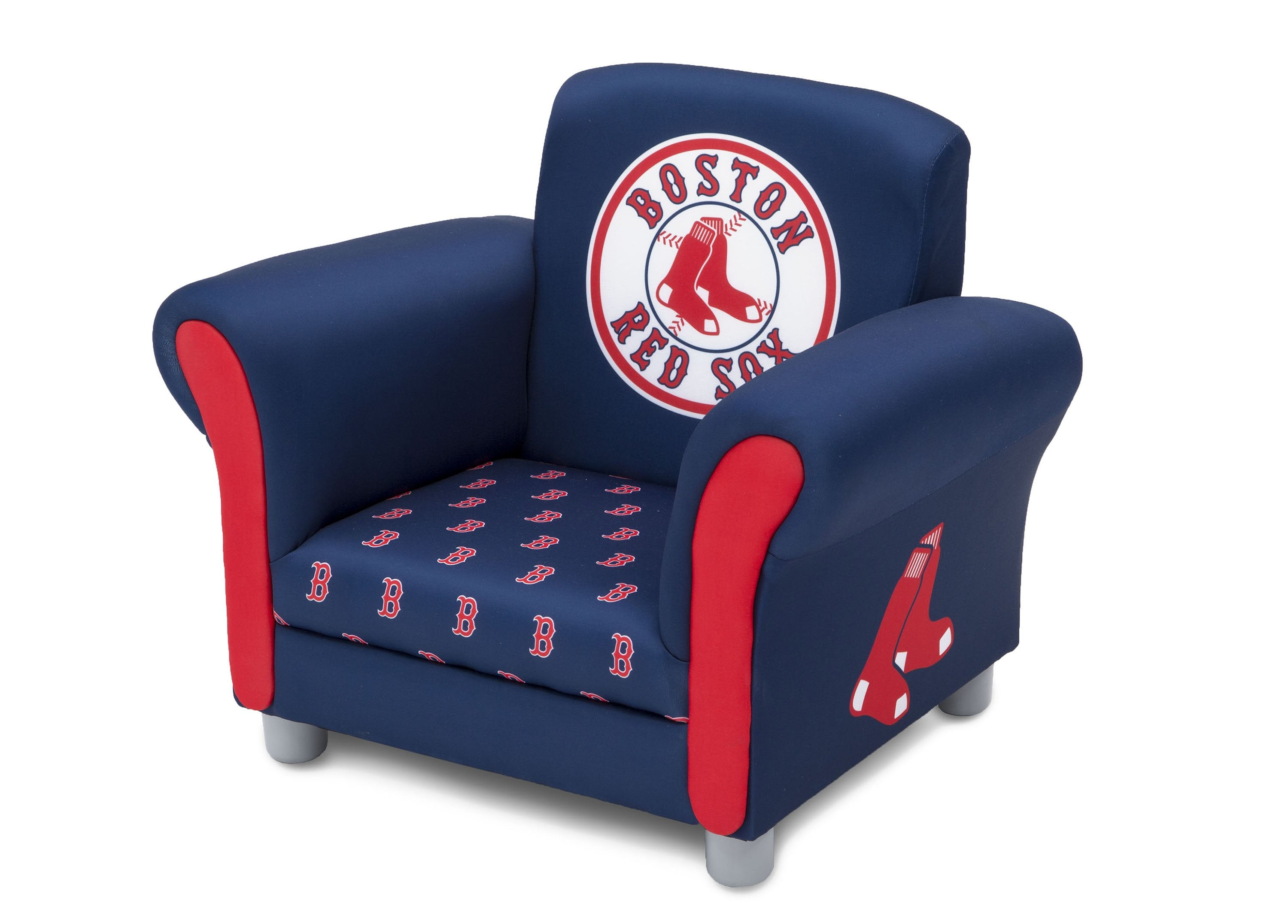 ... Delta Children Boston Red Sox Upholstered Chair, Left View A2a ...