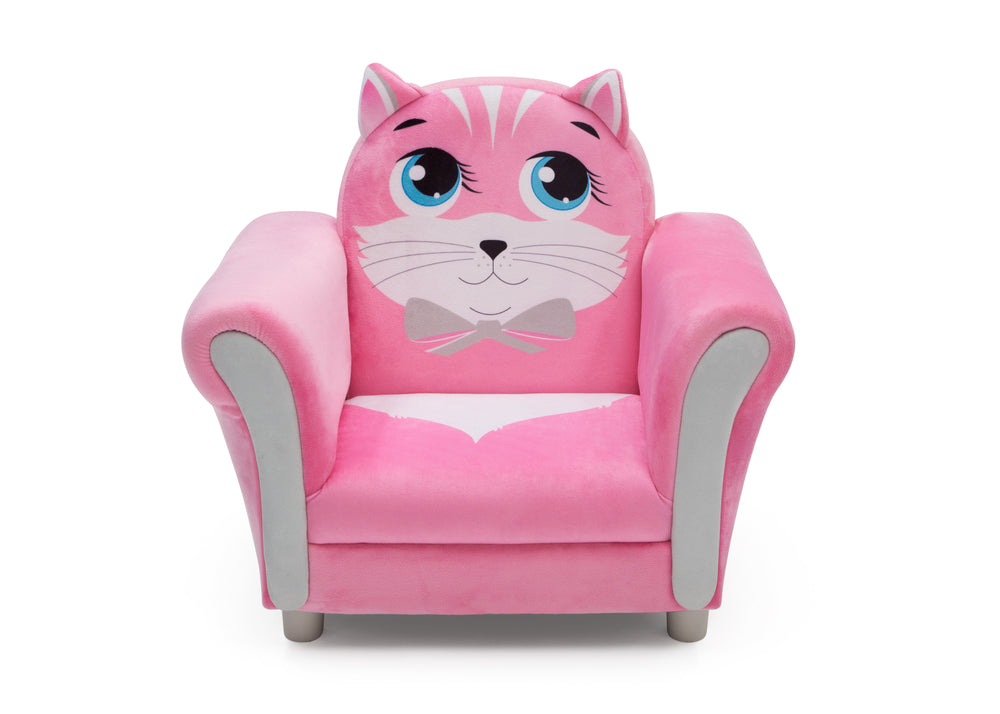 Delta Children Cozy Kitten Chair, Front Silo View