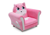 Delta Children Cozy Kitten Chair, Right Silo View