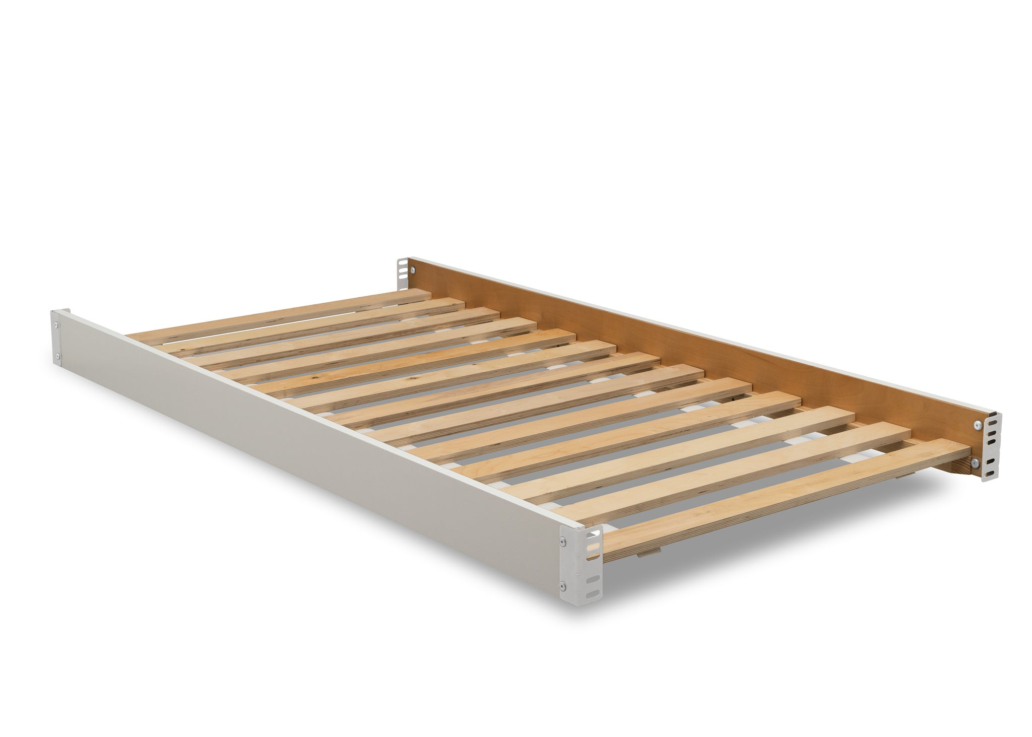 Delta Children Bianca White (130) Twin Size Wood Bed Rails (W0090), Right Silo View