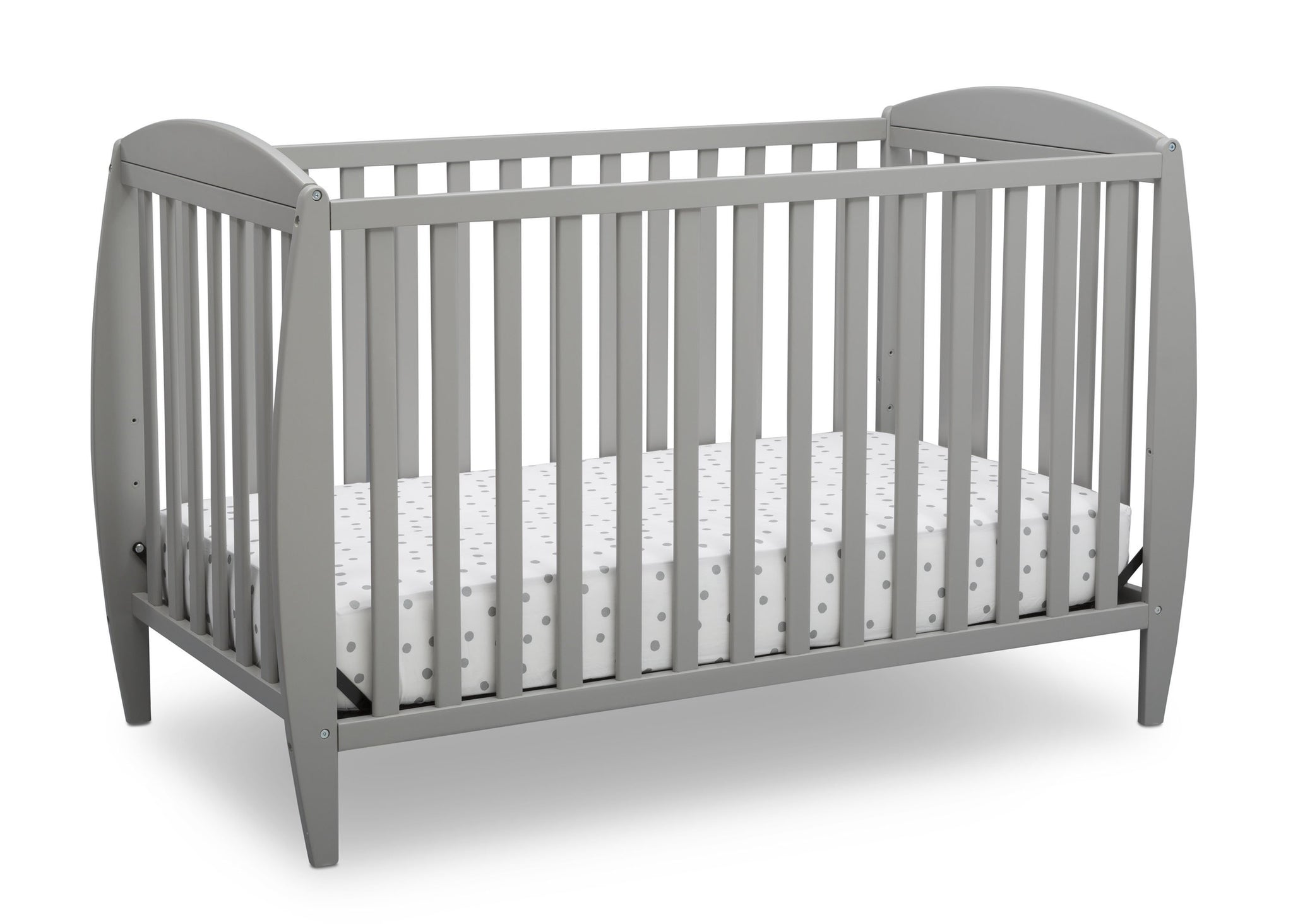 Delta Children Grey (026) Taylor 4-in-1 Convertible Crib (W10040), Silo Crib, a2a