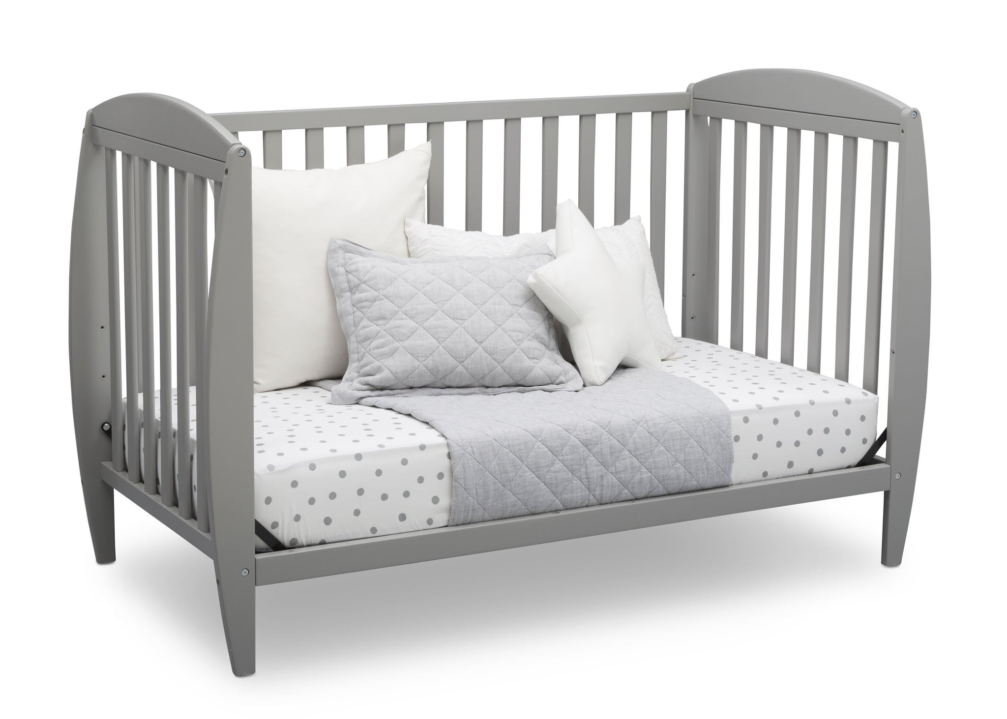 Delta Children Grey (026) Taylor 4-in-1 Convertible Crib (W10040), Silo Daybed, a4a