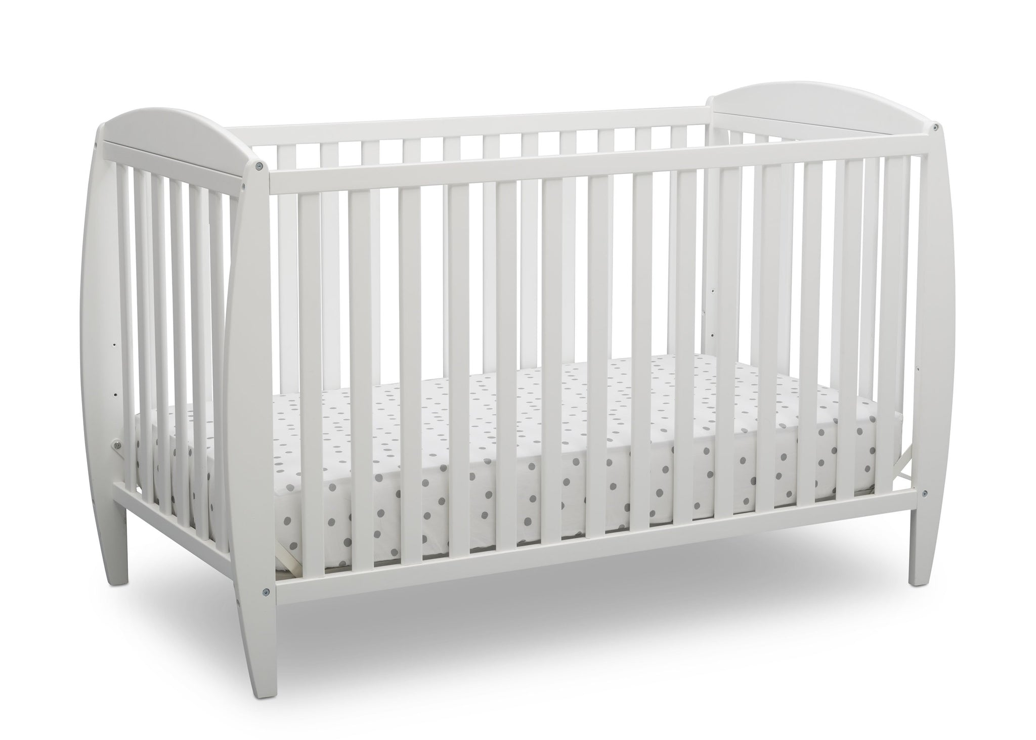 Delta Children Bianca White (130) Taylor 4-in-1 Convertible Crib (W10040), Silo Crib, b2b