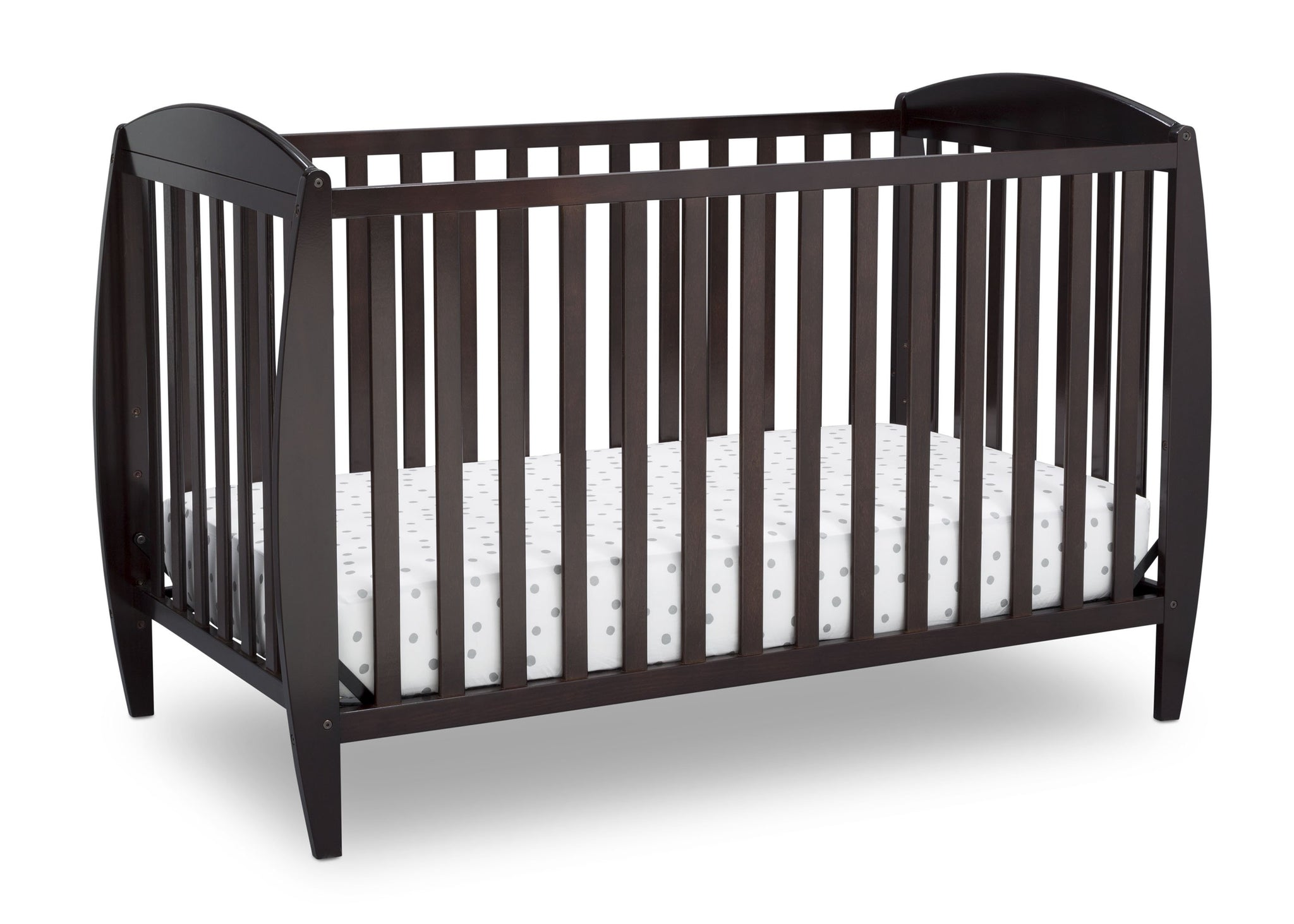 Delta Children Dark Chocolate (207) Taylor 4-in-1 Convertible Crib (W10040), Silo Crib, c2c