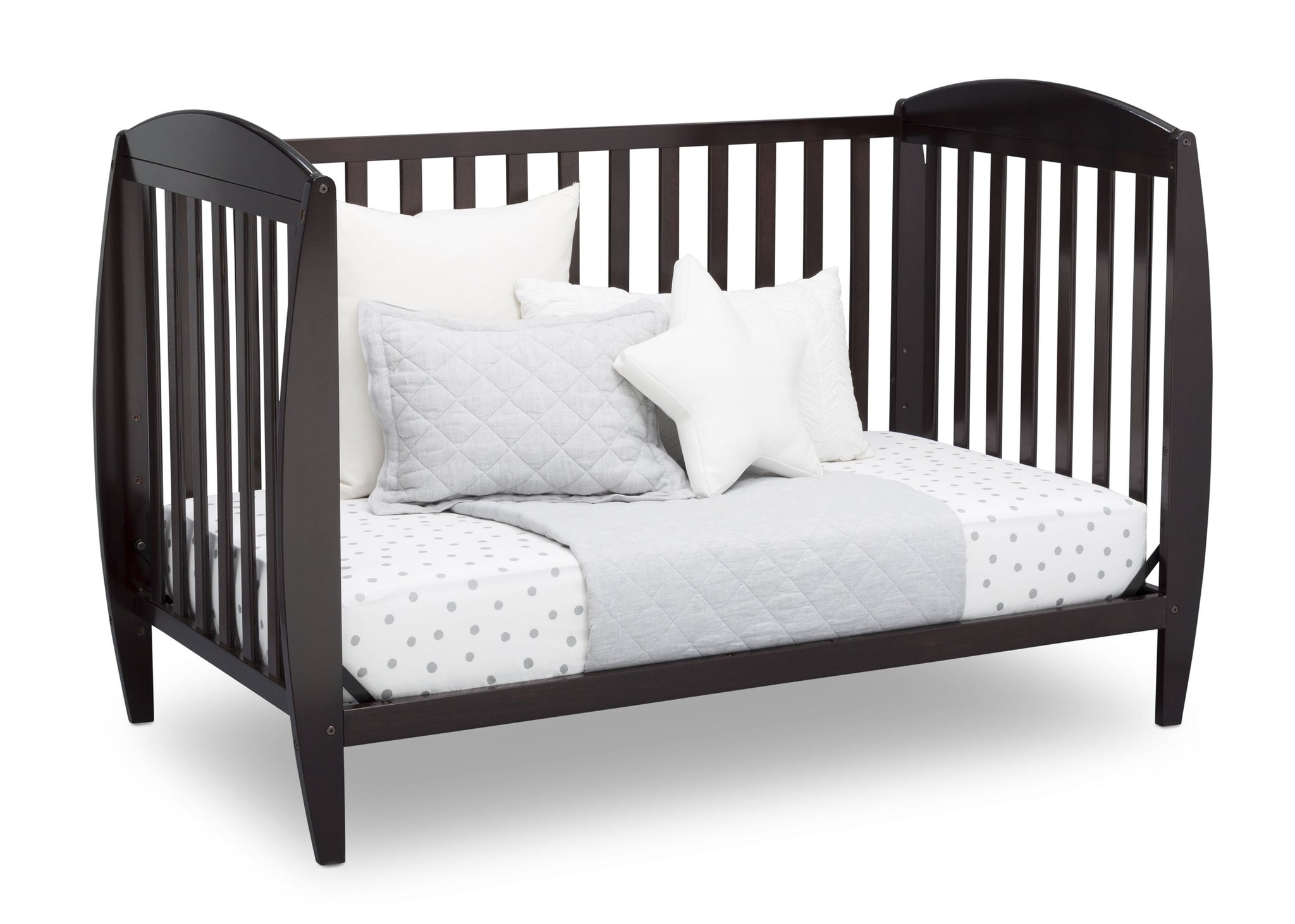 Delta Children Dark Chocolate (207) Taylor 4-in-1 Convertible Crib (W10040), Silo Daybed, c4c