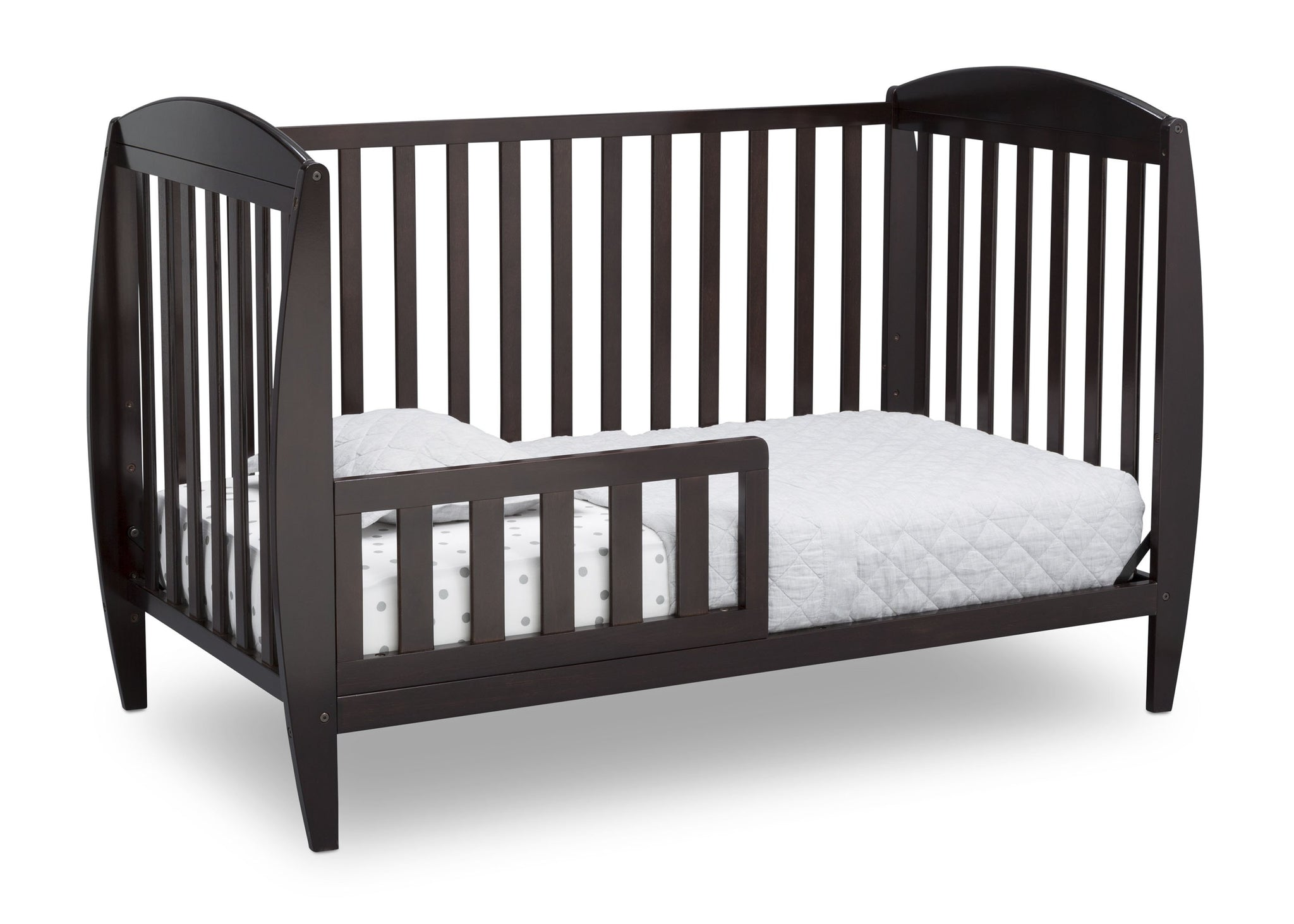 Delta Children Dark Chocolate (207) Taylor 4-in-1 Convertible Crib (W10040), Silo Toddler Bed, c3c