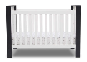 Delta Children Bianca with Midnight (181) Miles 4-in-1 Convertible Crib, Front Crib Silo View