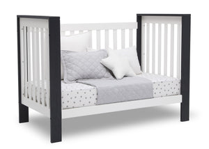Delta Children Bianca with Midnight (181) Miles 4-in-1 Convertible Crib, Right Day Bed Silo View