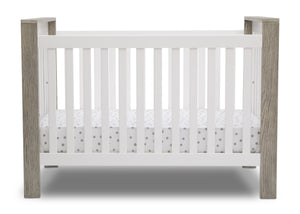 Delta Children Bianca with Textured Limestone (184) Miles 4-in-1 Convertible Crib, Front Crib Silo View