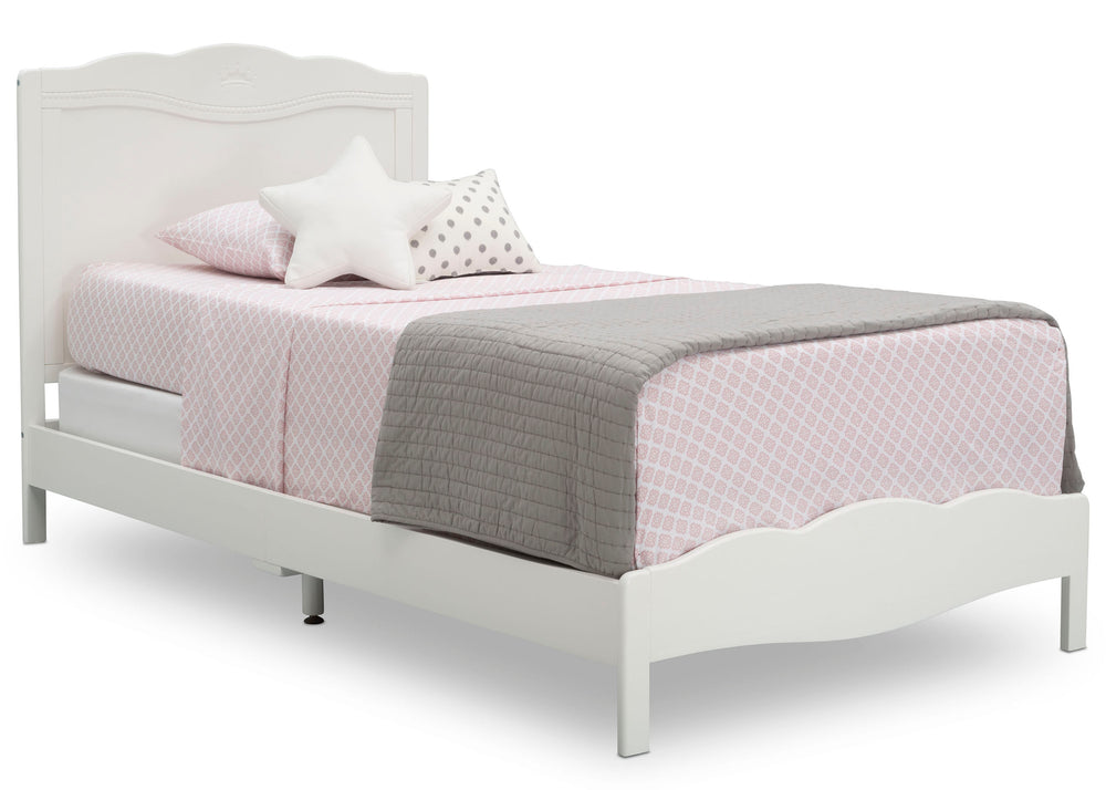 Delta Children Bianca White (130) Princess Madeline Twin Bed (W100270), Right Silo a1a